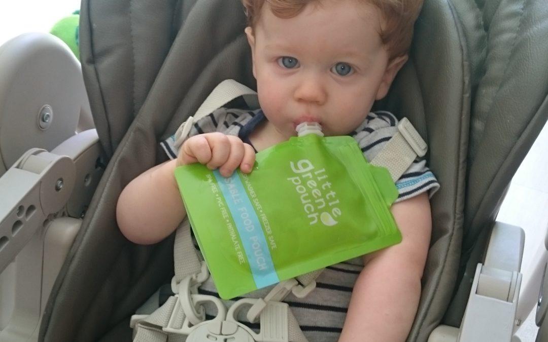 Lucas à testé : Baby clips (gourde réutilisable avec sa cuillère).