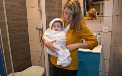 L'heure du bain avec la cape de bain DOMIVA