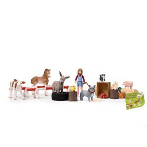 calendrier de l'avent farm wold figurines