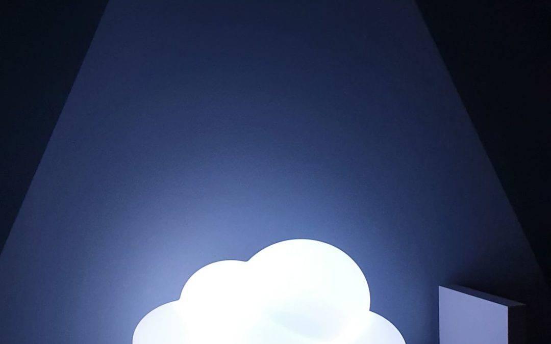 Veilleuse nuage bluetooth