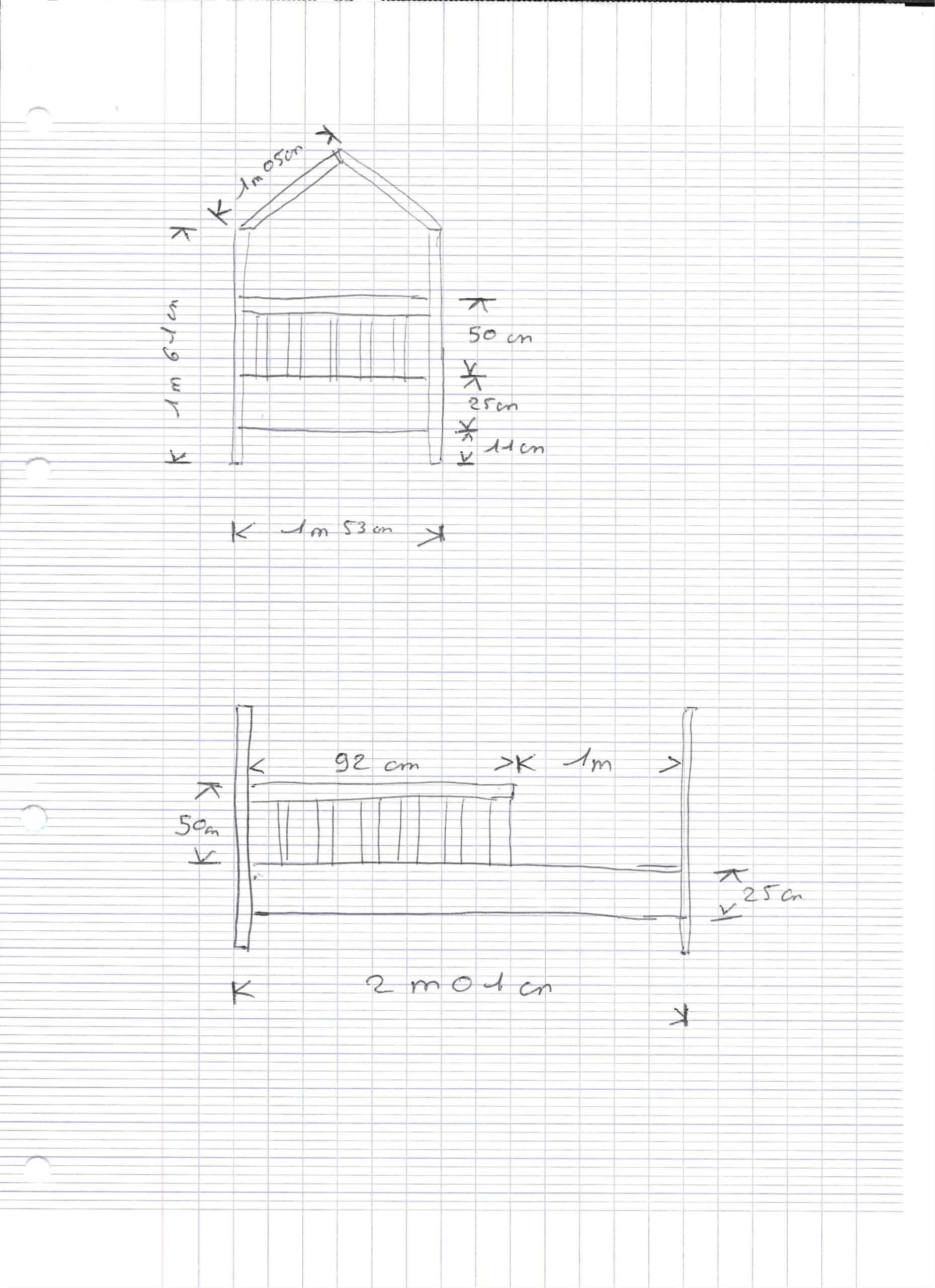 plan lit cabane